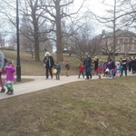 Children's Wild Thing parade with the Westerly BAnd