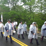 Marching down Rt 1A Charlestown RI