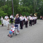 Pawcatuck Shopping center parking lot line up for parade