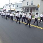 Marching in Memorial Day Parade on Rt 1 Mystic