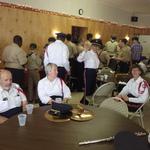 enjoying refreshments at Mystic VFW