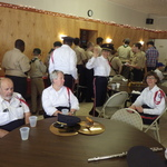 enjoying refreshments at Mystic VFW