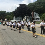 marching in Mount Carmel Procession