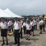 Blessing of the Fleet near harbor ready for procession