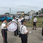 July 29 blessing of the fleet  Alison playing bass drum
