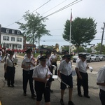 Blessing of the fleet procession at Canon Square, Stonington