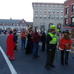 lining up for parade on High street