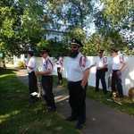 Stonington CT Main Street waiting for procession