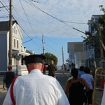Marching down School Street, STonington, CT