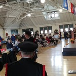 Veteran's Day ceremony at Westerly Armory after Parade
