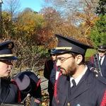 Wilcox Park Veteran's Day ceremony Dana and Chris
