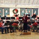 Alison Anouncing for the Annual Christmas concert