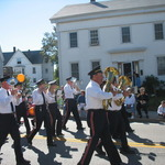 Band marching past