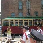 trolley departs