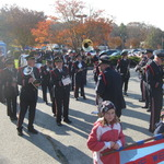 Lining up to March, Pawcatuck, CT
