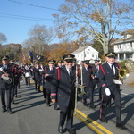 Marching down Pequot Trail, Pawcatuck, CT