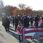 Preparing for Veteran's Day Parade, Pawcatuck, CT