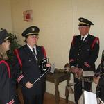 Preparing for Veteran's Day Ceremony, Westerly Armory, RI