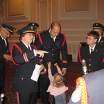 Allison giving preparation for Veteran's parade, Foxwoods Casino