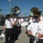 Ready for Parade--Westerly Band's 159th  Anniversary Banner