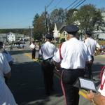 Leading the parade --Director Allison Patton