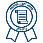 Texas PTA Awards Cobb MS PTA The President's List Award