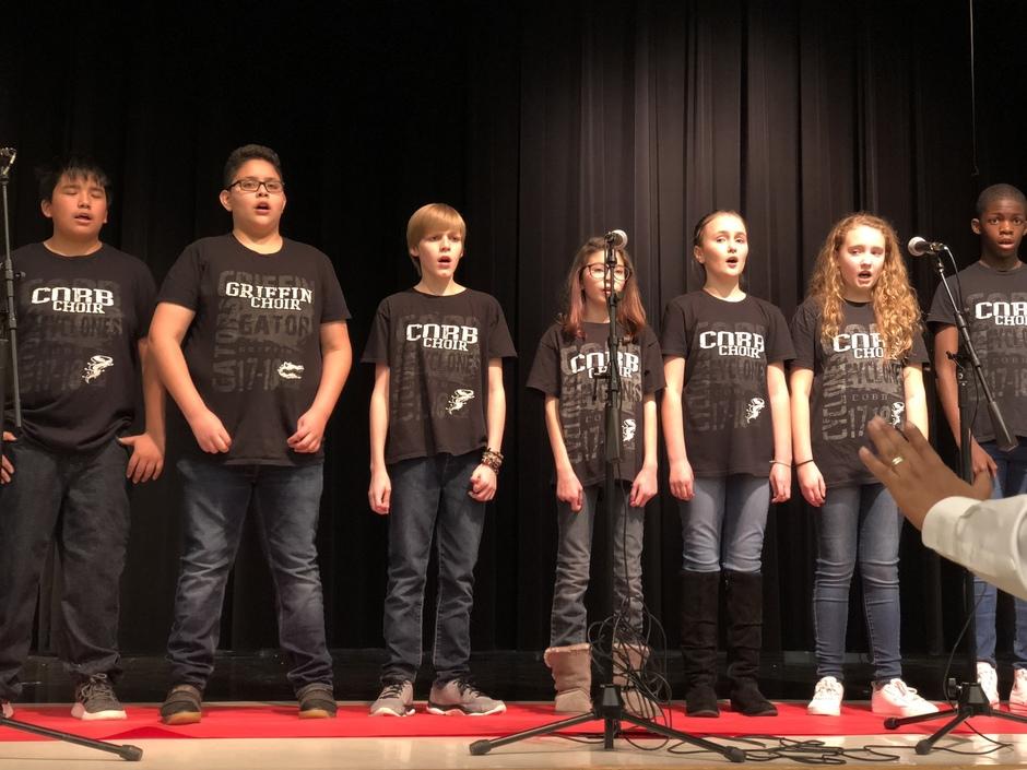 Choir students perform