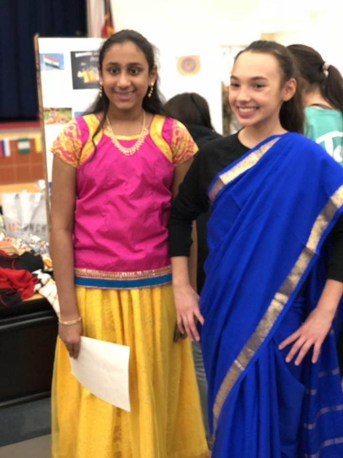 Students Celebrating India