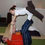 Family Yoga flying