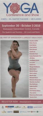 Vancouver Yoga Conference 2010 ad