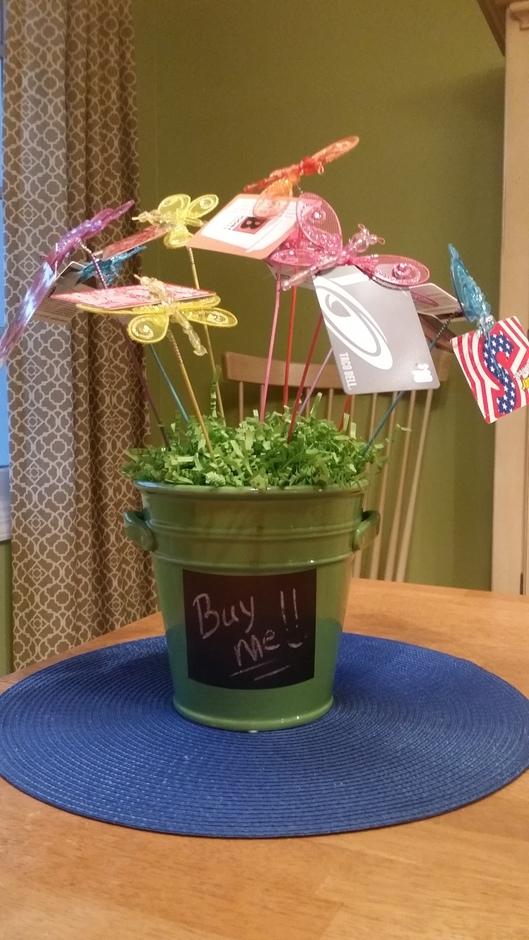 Auction 2014 - gift card bouquet