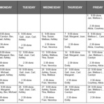 September Cleaning Shift Schedule