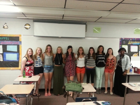 Algebra 2A 2013:  The Ladies in 3rd Period