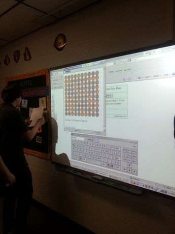 4th Period Coin Toss using the SMARTBoard