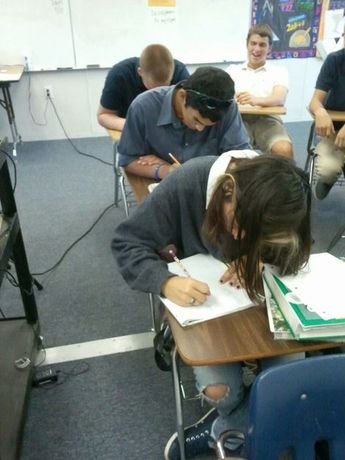 First period hard at work.