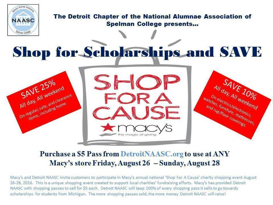 Macys Shop For A Cause Flyer