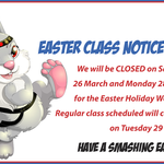 Easter Class Notice