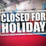 CLOSED for holiday!