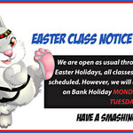 EASTER CLASS NOTICE!
