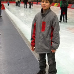 A Webelo guest getting ready to skate