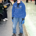 Sam getting ready to take the ice