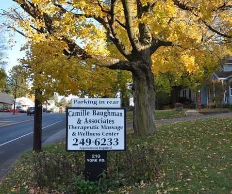 Camille Baughman & Associates Therapeutic Massage & Wellness Center signage