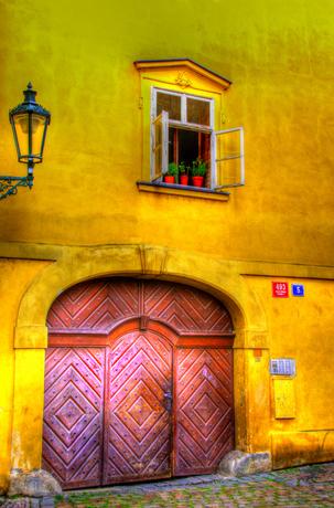 A Door in Old Prague