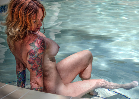 Nude Woman with Tatoos