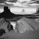Monument Valley in B&W
