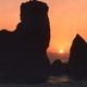 Sunset on Big Sur Rocks, California