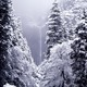 Lower Yosemite Falls in Winter