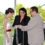 Special personal vows with eath knot.