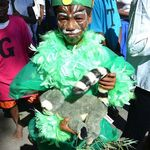 A child showing off his great costume!