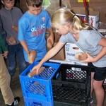 One-Love Soccer Kids crate sweet potatoes